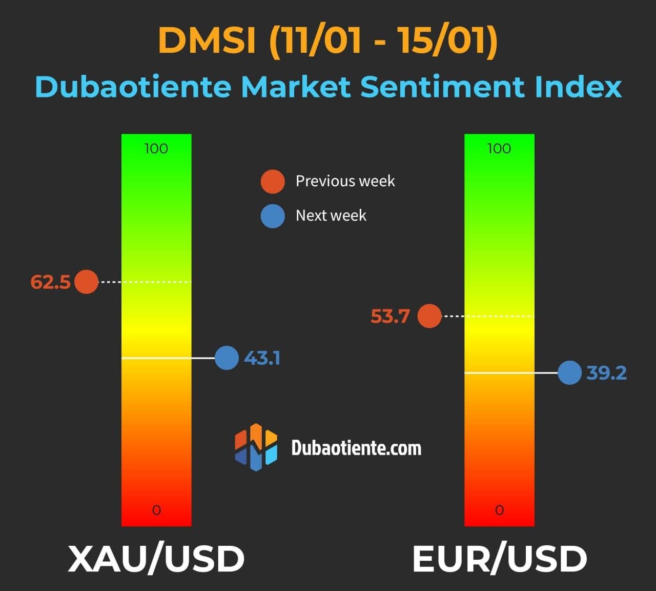 Chỉ số DMSI tuần giao giữa tháng 1/2021.