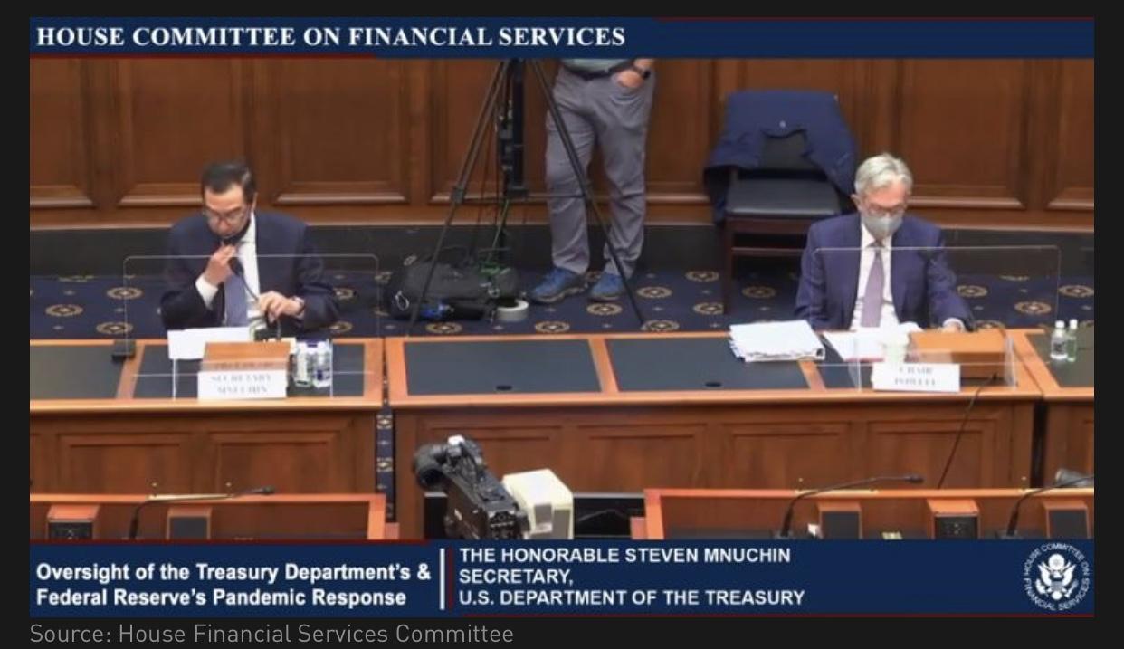 Powell điều trần trước Hạ viện.