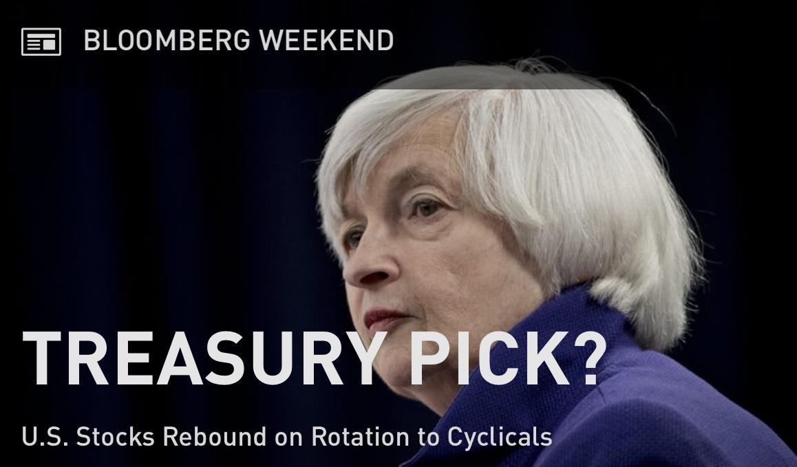 Cựu chủ tịch Fed Janet Yellen đang được cân nhắc cho vị trí Bộ trưởng Tài chính Hoa Kỳ