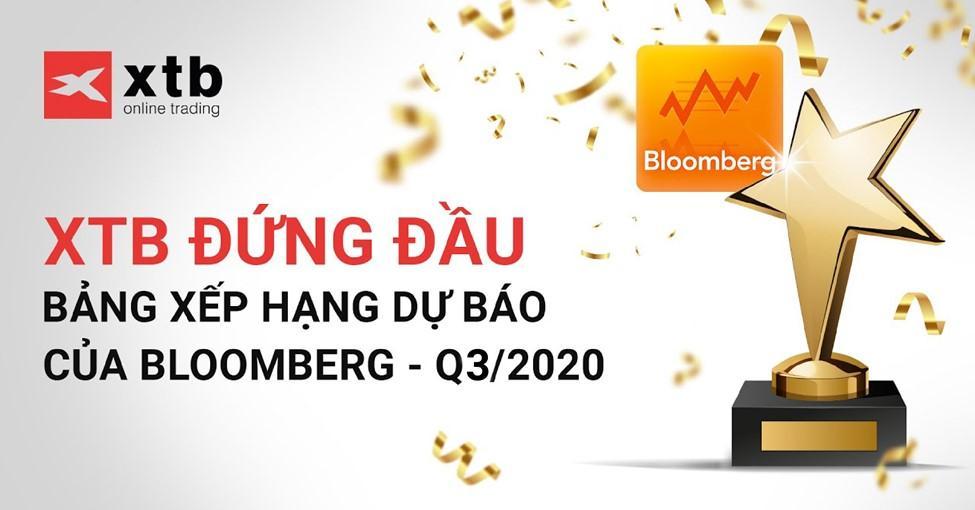 XTB DẪN ĐẦU BẢNG XẾP HẠNG CỦA BLOOMBERG QUÝ 3 NĂM 2020